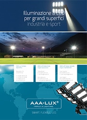 Illuminazione a LED per grandi superfifi ci industria e sport